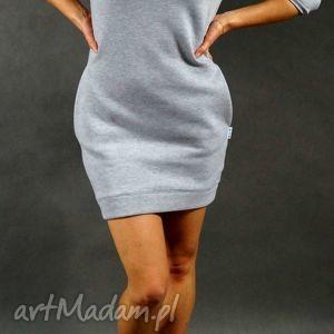 dresówka s m , dresowa, tunika, sukienka, kieszenie, ciepła, święta prezent