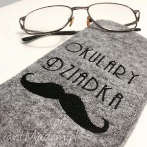 filcowe etui na okulary dziadka, dziadek, etui, okulary, filc, filcowe, haft