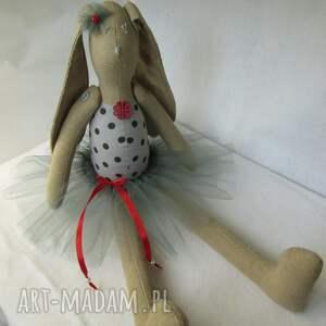 baletnica szara kropeczka, baletnica, balerina, tutu, roczek, chrzest, lalka, pod