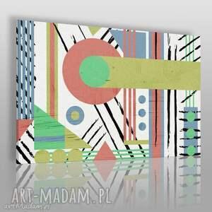 obraz na płótnie - abstrakcja geometria - 120x80 cm 37501 - abstrakcja