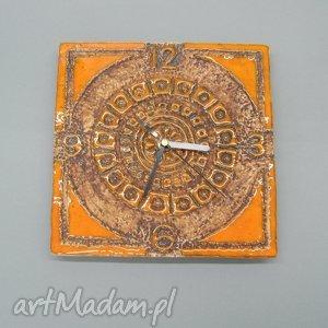 zegar majów ii , zegar, dekoracja, wnętrze, handmade, ceramika, unikatowy ceramika