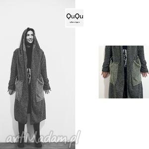 ququ design poketowy, wełniany płaszcz blezer, sweter, narzutka, wqdzianko