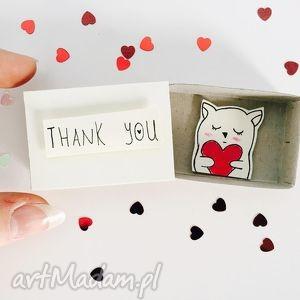 pudełeczko pozapałkowe thank you, kartka, thank, podziękowanie, miś