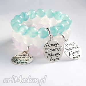 bransoletki dla siostry - jadeit transparentny aqua, siostra