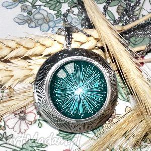 cosmic flower niespotykany medalion otwierany idealny prezent - sekretnik, medalion