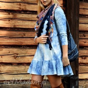 ręcznie wykonane tuniki tunika angel mini sky