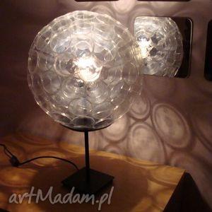 lampa z małych kubków pet, design, lampa, transparent, prezent, kubki