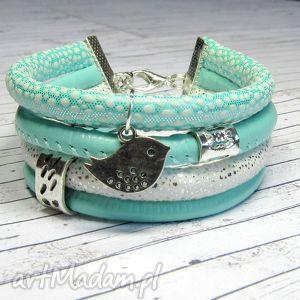bransoletka rzemienie minty charms do wyboru, bransoletka, romantyczna