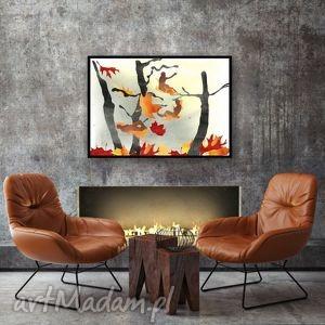 melancholia ilustracja a4, ilustracja, natura, 20x30, drzewa, liście grafika