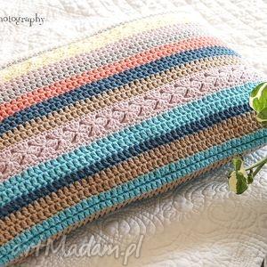 poduszki poduszka multikolor no 1, poduszka, poszewka, bawełna, szydełkowa dom