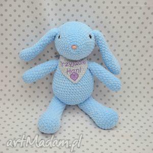 maskotki szydełkowy króliczek błękitek, maskotka, królik, króliczek, błękit