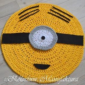 dywan bawełniany minionki 80cm ze sznurka minione, dzieci, minionki, pokój, salon
