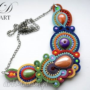 naszyjniki naszyjnik sutasz kolorowy, sutasz, naszyjnik, modny biżuteria