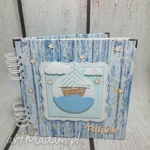 marynarski album na zdjęcia , marynarski, statek, chrzest, urodziny, chłopiec