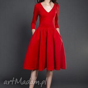kasia miciak design rozkloszowana sukienka midi, sukienka, rozkloszowana, midi