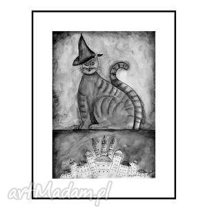 kot magik, plakat ok 40 60 cm, kot, koty, plakat, obraz, dekoracja dom