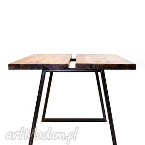 stoły stół mopene styl industrialny, do loftu, jesion i stal, minimalistyczny