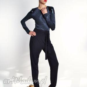 spodnie petra - eleganckie marchewy, jersey, spodnie