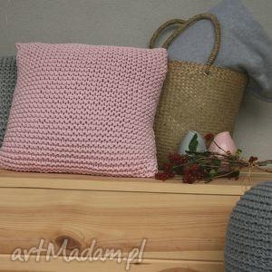 różowa poduszka 50x50, poduszka, róż dom