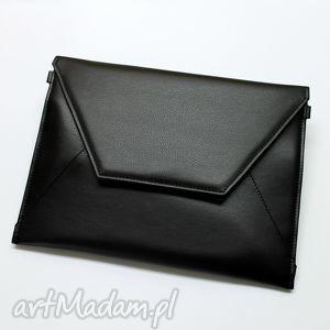 Prezent Kopertówka - czarna, elegancka, nowoczesna, wieczorowa, handmade, prezent