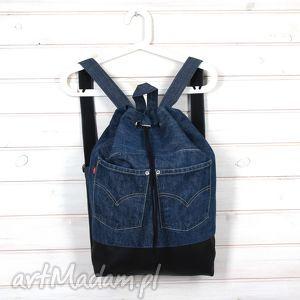 pod choinkę prezent, plecak worek denim 001, plecak, worek, denim, dżinsowy, prezent