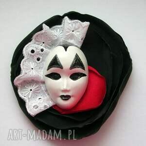 broszka z kolekcji masquerade - królewski arlekin - broszka, maska, arlekin, król