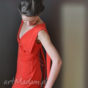 carmen - sukienka, czerwona, wieczorowa, koktajlowa, karnawałowa, dzienna