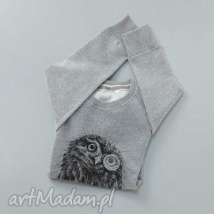 sowa pójdźka bluza z nadrukiem, longsleeve, nadruk bluzy ubrania