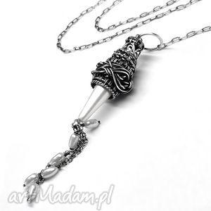 Perła Seashell- Naszyjnik, naszyjnik, perła, biała, srebro, biżuteria