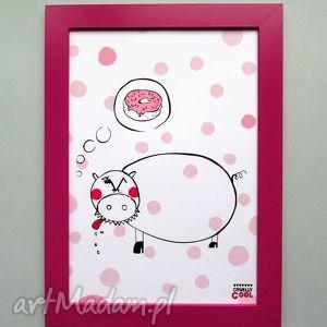 piggys dream, świnka, donut, pączek, kropki, słodycze, kuchnia dom