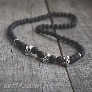 naszyjnik męski black lava skulls ii, czaszka, czaszki męska