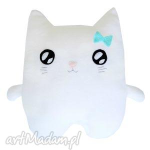 poduszka biały kotek przytulanka-usypianka, kotek, poduszka, przytulanka, prezent