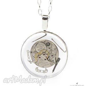 i want it all - srebrny nasyzjnik z elementami zegarka, lucreative watch me - vintage