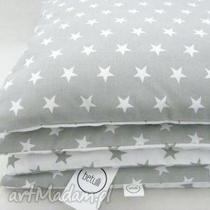 150 x 200 pościel dwustronna gwiazdki biało - szare, pościel, 150x200, styl