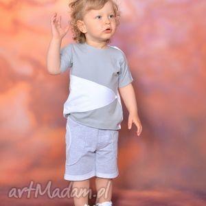 gapula bluzeczka na lato z aplikacją szaro-biała, bawełna, handmade, aplikacja