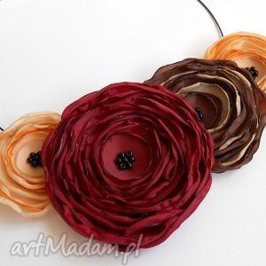kwiatowa kolia - kwiaty, naszyjnik, biżuteria, ślub, świąteczny, kobieta