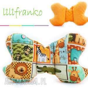 lilifranko poduszka podróżna safari pomarańczowy, poduszka, podróżna, motylek
