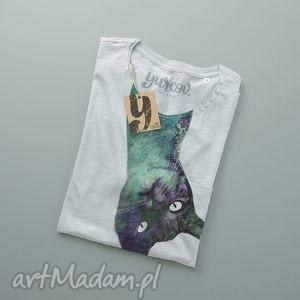 kocur koszulka męska z kieszonką, tshirt, kot, koty, cat