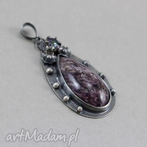 czaroit topaz mistyczny i srebro - wisior, czaroit, topaz, mystic, mistyczny, wisior