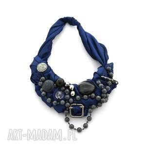 dark moon naszyjnik handmade - naszyjnik, handmade, niebieski, granatowy