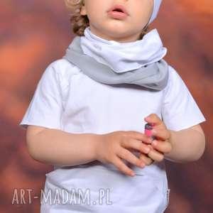 bawełniana letnia czapa smerfetka biała, handmade, surowa, lato, smerfetka