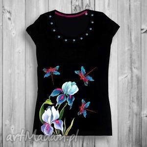 koszulki ręcznie malowana unikatowa bluzka damska- idealna jako prezent, kobieca