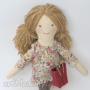 lalki lalka lisa - wiosenna łączka, lalka, szmaciana, prezent, marshala, shopperka