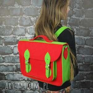 plecak i torba na ramię w jednym - filcowa, filcu, plecal, torba