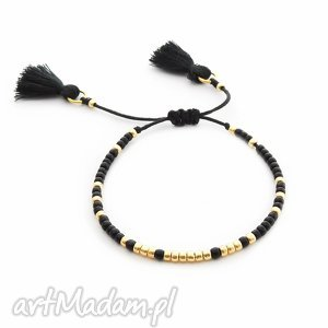 ilovehandmade bransoletka minimal - simple black, bransoletka, handmade, koralikowa