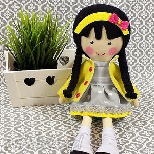 Prezent malowana lala tosia, lalka, zabawka, przytulanka, prezent, niespodzianka