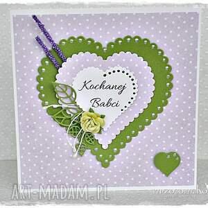wrzosowisko kartka dla babci, kartka, dzień, serce, prezent, oryginalne