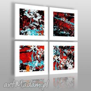 obrazy obraz na płótnie - abstrakcja 4cz 4x40x40 cm 00101 , abstrakcja, wzór