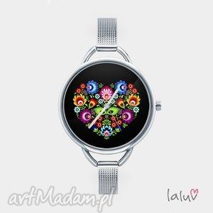 Prezent Zegarek z grafiką SLAVIC LOVE, bransoleta, ludowy, folk, miłość, etniczny