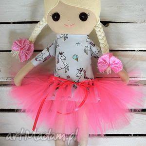 szmacianka, szmaciana baletnica w tutu, szmaciana, lalka, haft